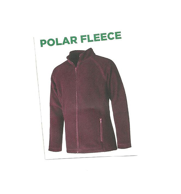 Fleece - Maroon Zipper Front