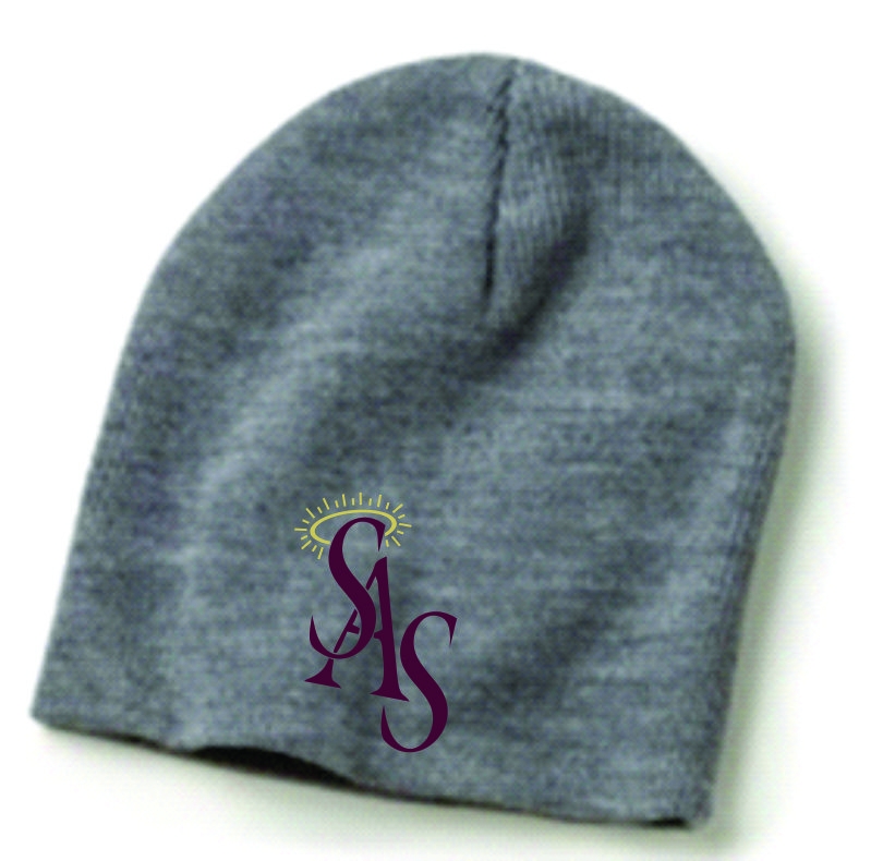 Gray or Maroon Winter Beanie w/ SAS Logo