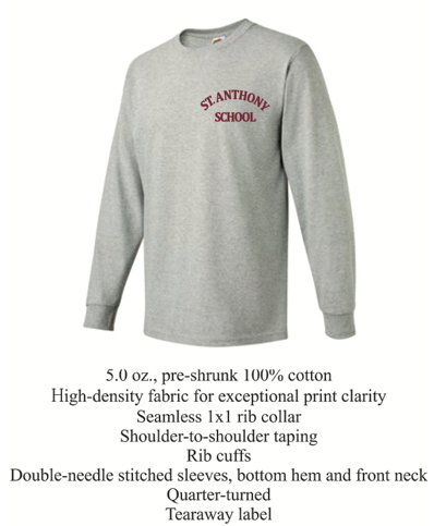 Long Sleeve Maroon/Gray Gym T-Shirt