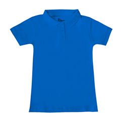 Girls Fitted Interlock Polo PS