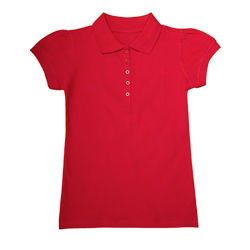 Girls Stretch Pique Polo PS