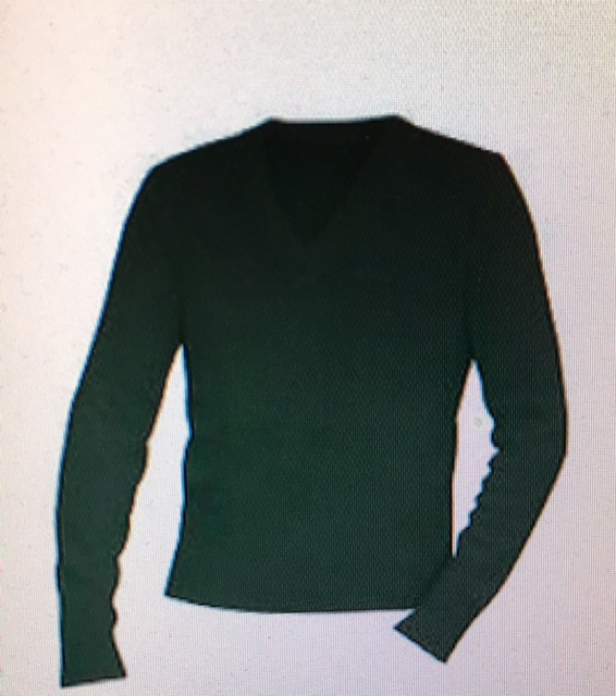 V-Neck Sweater Green OLMA